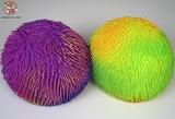 Шар мягкий резиновый мохнатый D-008 большой 28см (фиолетовый) - Код-1023