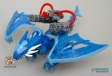 """Дракончик конструктор в яйце - MegaBloks Dragons Universe """"Tailspike"""" 95205 (синий) - Код-549"""