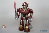 Робот маленький на батарейках - Hap-P-Kid Cybotronix Mighty Warrior 3568T (ходит, вращается, звуки, свет) красный - Код-633