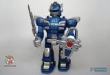 Робот маленький на батарейках - Hap-P-Kid Cybotronix Mighty Warrior 3569T (ходит, вращается, звуки, свет) синий - Код-634