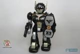 Робот маленький на батарейках - Hap-P-Kid Cybotronix Mighty Warrior 3570T (ходит, вращается, звуки, свет) черный - Код-635