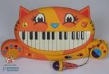 Музыкальный Кот пианино с микрофоном N747