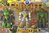 Фигурки Игровые Набор Gormiti - 12936 (3 героя, с оружием, на планшетке 36*28см) - Код-802