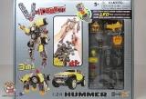 Трансформер Робот-Машина (конструктор) - V-Create 54020R HUMMER HX (1:24) - Код-940