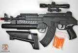 Автомат игрушечный (стреляет патронами-присосками) TD-2023AAA - Код-962