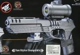 Пистолет игрушечный M39GL++ (стреляет круглыми пульками) - Код-985